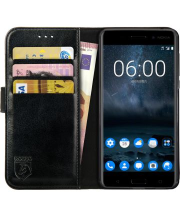 Rosso Element Nokia 6 Hoesje Book Cover Zwart