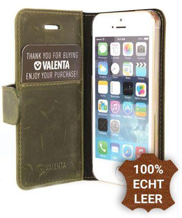 Valenta Classic Luxe iPhone 5/5S/SE Hoesje Leer Bookcase Vintage Groen
