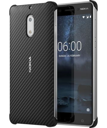Nokia CC-802 Carbon Fibre Case Nokia 6 Zwart