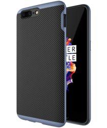 OnePlus 5 Hybride Carbon Hoesje Blauw