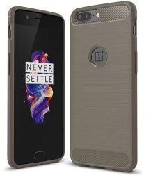 OnePlus 5 Hoesje Geborsteld TPU Grijs