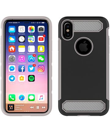Apple iPhone X Armor Case Zwart