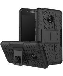 Motorola Moto G5 Robuust Hybride Hoesje Zwart