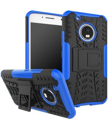 Motorola Moto G5 Plus Robuust Hybride Hoesje Blauw