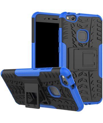 Huawei P10 Lite Robuust Hybride Hoesje Blauw