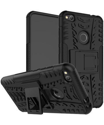 Hybride Huawei P8 Lite (2017) Hoesje Zwart