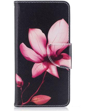 Huawei Y6 (2017) Portemonnee Flip Hoesje Print Bloem