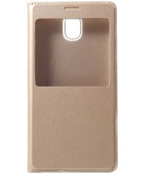 Samsung Galaxy J5 (2017) Window View Flip Hoesje Goud
