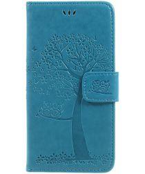 Samsung Galaxy J5 (2017) Portemonnee Boom Hoesje Blauw
