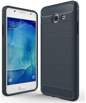 Samsung Galaxy J5 (2017) Geborsteld TPU Hoesje blauw Hoesjes