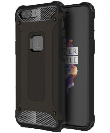 OnePlus 5 Hybride Hoesje Zwart Hoesjes