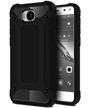 Huawei Y6 (2017) Hybride Hoesje Zwart