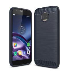 Motorola Moto G5S Plus Geborsteld TPU Hoesje Blauw