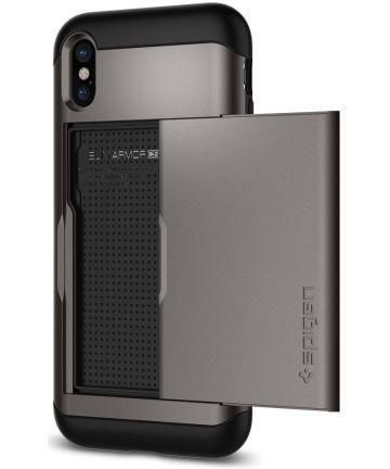 Spigen Slim Armor Card Slot Apple iPhone X Gunmetal