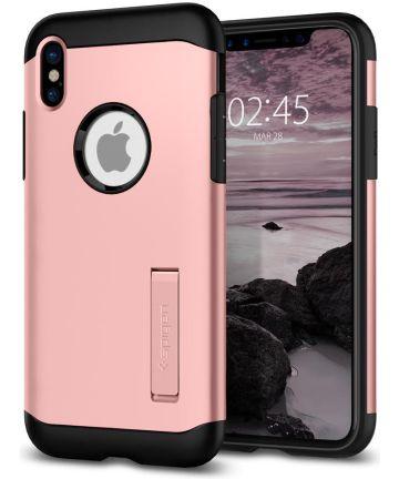 Spigen Slim Armor Apple iPhone X Roze Goud
