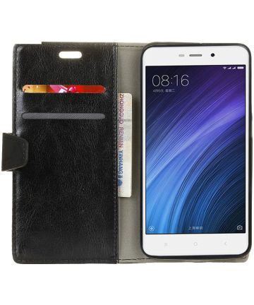 Xiaomi Redmi 4a Portemonne Hoesje Zwart