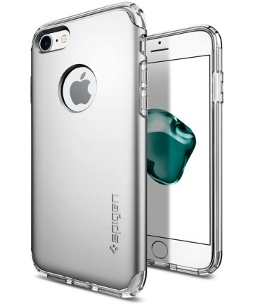 Spigen Hybrid Armor Hoesje Apple iPhone 7 Satin Silver