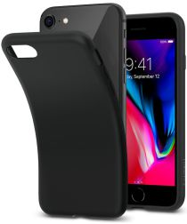 Spigen Liquid Crystal Apple iPhone 7 / 8 Hoesje Black