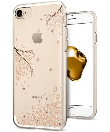 Spigen Liquid Crystal Case Apple iPhone 7 / 8 Shine Blossom Hoesjes