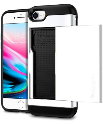 Spigen Slim Armor Card Holder Case Apple iPhone 7 / 8 White