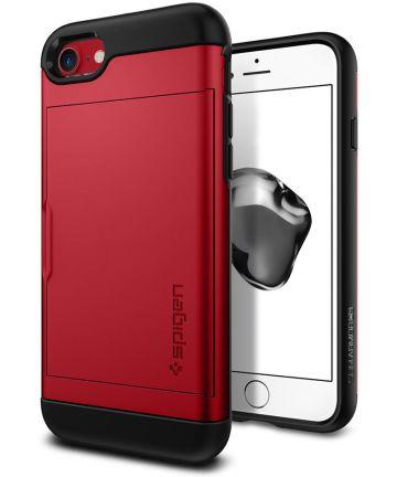 Spigen Slim Armor Card Holder Case Apple iPhone 7 / 8 Red