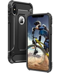 Apple IPhone X/XS Hoesje Shock Proof Hybride Backcover Zwart