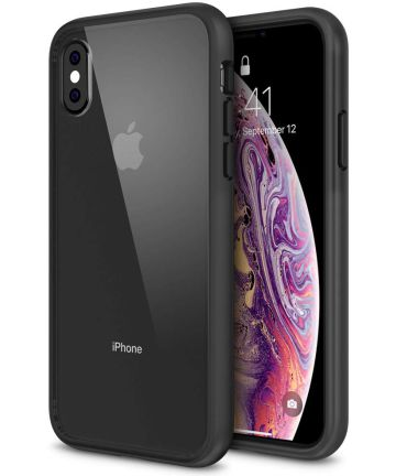 Apple iPhone X Hoesje Armor Backcover Zwart
