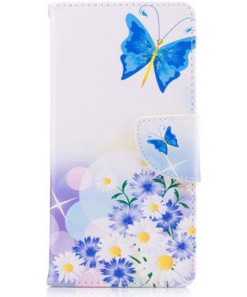 Nokia 3 Portemonnee Hoesje Print Bloemen & Vlinder