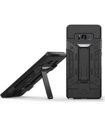 Samsung Galaxy Note 8 Hoesje met Kaarthouder Zwart