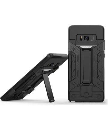 Samsung Galaxy Note 8 Hoesje met Kaarthouder Grijs