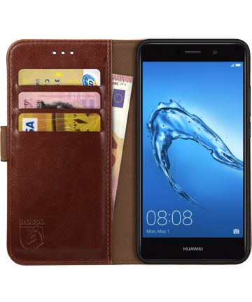 Rosso Element Huawei Y7 (2017) Hoesje Book Cover Bruin