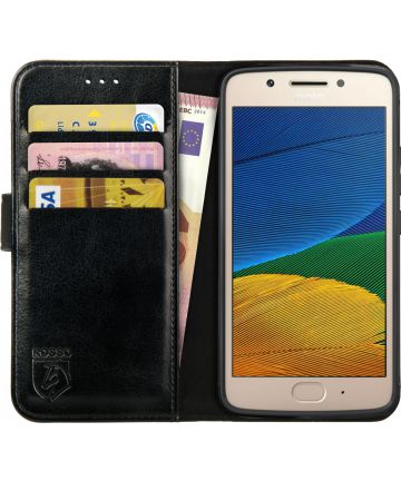 Rosso Element Motorola Moto G5s Plus Hoesje Book Cover Zwart