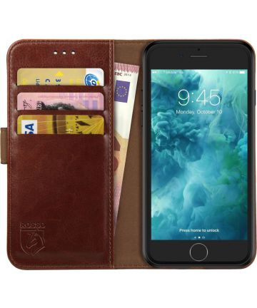 Rosso Element Apple iPhone 6 / 6S Hoesje Book Cover Bruin