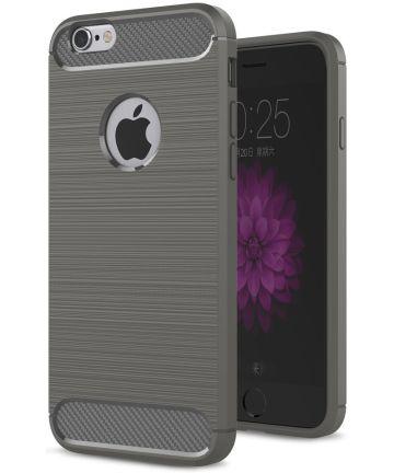 Apple iPhone 5(S)/SE Geborsteld TPU Hoesje Grijs Hoesjes
