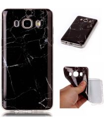 Samsung Galaxy J5 (2016) TPU Hoesje Marmer Zwart