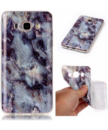 Samsung Galaxy J5 (2016) TPU Hoesje Marmer Blauw