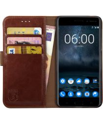 Rosso Element Nokia 8 Hoesje Book Cover Bruin