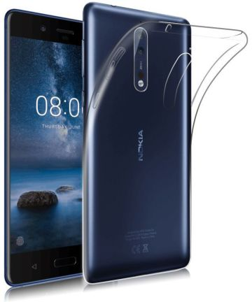 Nokia 8 Hoesje Dun TPU Transparant Hoesjes