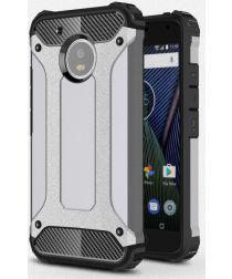 Motorola Moto G5 Hybride Hoesje Grijs