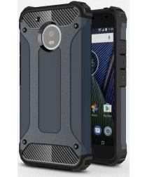 Motorola Moto G5 Hybride Hoesje Blauw