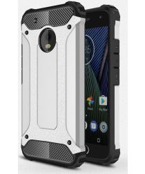 Motorola Moto G5 Plus Hybride Hoesje Zilver