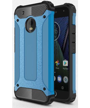 Motorola Moto G5 Plus Hybride Hoesje Blauw