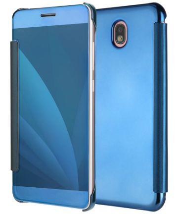 Samsung Galaxy J5 (2017) Spiegel Hoesje Blauw Hoesjes