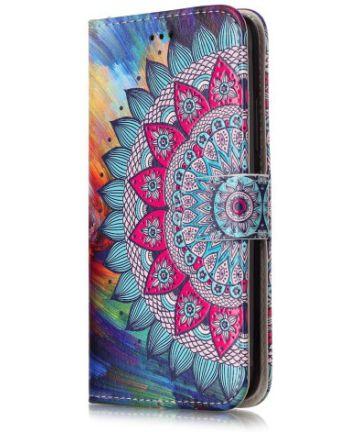 Motorola Moto G5 Portemonnee Hoesje met Bloem Print