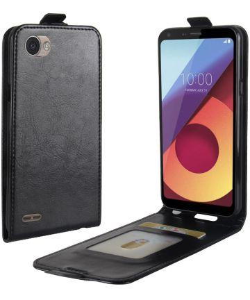 LG Q6 Verticaal Flip Hoesje Zwart