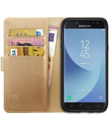 Rosso Element Samsung Galaxy J5 2017 Hoesje Book Cover Goud