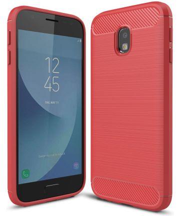 Samsung Galaxy J3 (2017) Geborsteld TPU Hoesje Rood