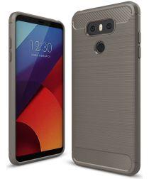 LG G6 Geborsteld TPU Hoesje Grijs