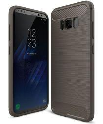 Samsung Galaxy S8 Geborsteld TPU Hoesje Grijs