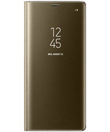 Samsung Galaxy Note 8 Clear View Stand Cover Case Goud